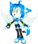 Cyanx The Angel Cat by JIStheFox