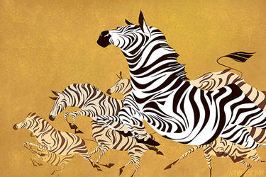 golden stripes by scrii