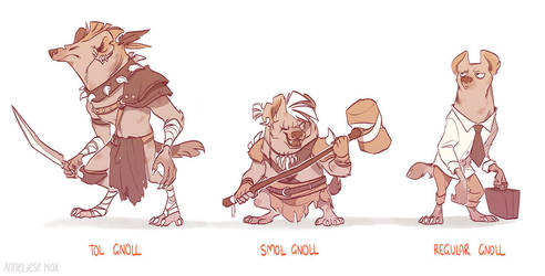 regular gnoll by scrii