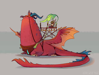 dragon by scrii