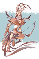 guild wars 2 - tengu by scrii