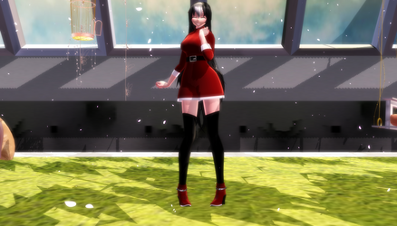 MMD Merry Christmas, Mom! by blackpeacock10000