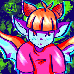 Bright Doodle 1 by Lucora