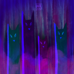 Night foxes by Lucora