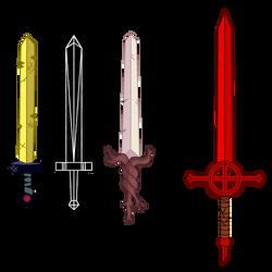 Finn's Swords - Adventure Time by Qhyperdunk24
