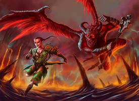 Monk in Hell by DaveAllsop