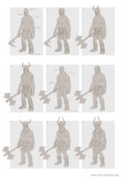 Giant preliminary concept - Celtic Heroes by DaveAllsop