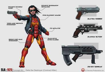 Delia the Destroyer Concept - SLA Industries by DaveAllsop