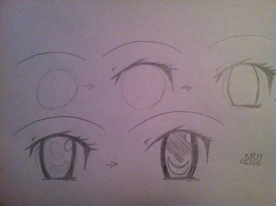 How To Draw Anime Eyes Easy 5 Steps By Pavv Pads On Deviantart