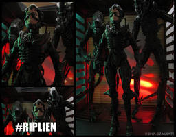 Squad Rollin Up - RIPLIEN Custom Figure by Oz-Muerte