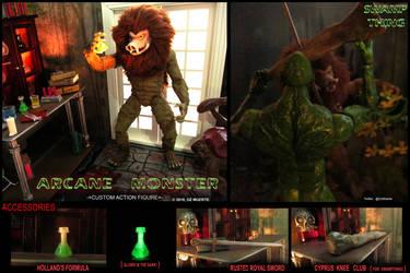 Arcane Monster - Swampthing Custom Action Figure by Oz-Muerte