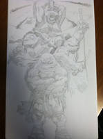 group shot of TMNT by tincan21