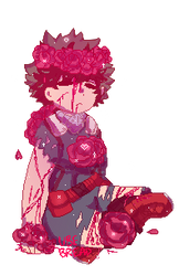 Blood stained roses by UbeBread