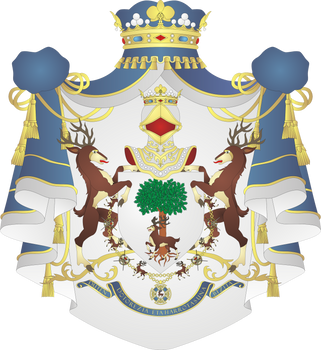 Greater coat of arms of House of Burguete by Alb-Burguete