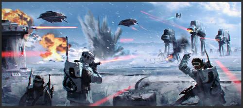 Battle of Hoth by PencilandStylus