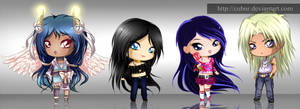 Free colored sketch chibi Requests - Set1 by CuBur