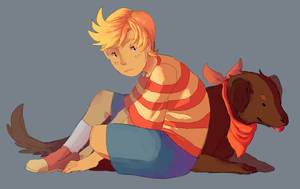 Lucas And Boney by PastelWing