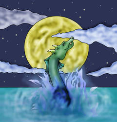 Waterdragon by oblitter02