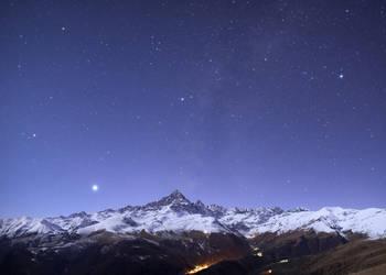 Mount Viso moonlight by morglin