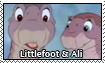 Littlefoot and Ali Stamp by Fishlover