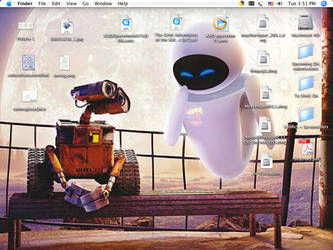 Wall-E and EVE Desktop by Fishlover
