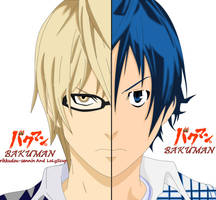 Bakuman:Takagi and Mashiro by lolyScup
