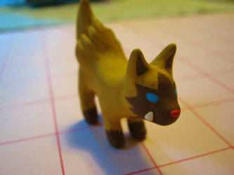 WIP Shiny Poochyena Sculpture by Licht-chan