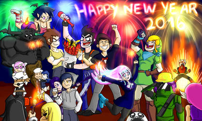 happy new year  DA friends  by C-Y-H-M