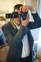 Self Portrait at a wedding by NickKoutoulas