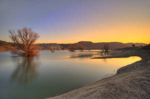 Lake sunset by NickKoutoulas
