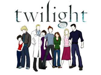 Twilight Cullens by alifsu17