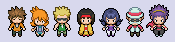 Kanto Gym Leaders BW style by tebited15