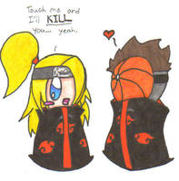 Deidara and Tobi by Rockinmuffin