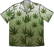 Weed Hawaiian Shirt by zimdrake