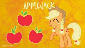 Applejack Ponytail Braids Wallpaper by brightrai