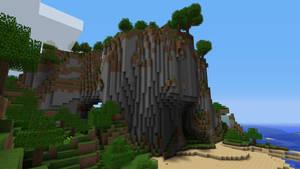 Minecraft Cliff by burntcustard