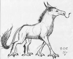 demon horse thing by Zanora-zara