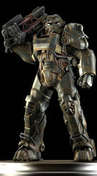 T-60 Power Armor by Yare-Yare-Dong