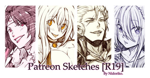 Patreon Sketches [R19 Preview] by nidoriko
