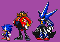 Neo Metal Sonic Advance/Battle-Style Sprite by The-Hoennest