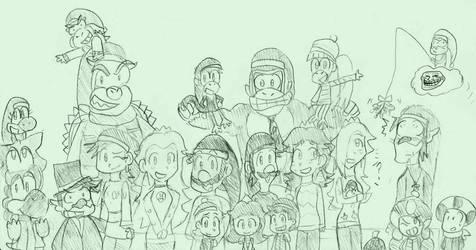 A Sketchy Mario Christmas and New Year by mrm64