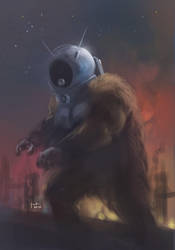 Ro-Man quickpaint by Taclobanon