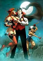 Sailor Girl,  Crimson and Young Dracula by Taclobanon