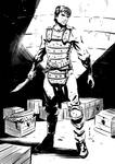 Bardik in Leather Armor by Taclobanon