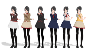 [MMD] Ayano Aishi [DL] by TomokiHigaku