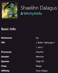 Shaelihn Dalagus by WitchyStella