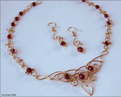 Pseudo-Celtic Necklace by knit-errant