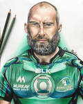 John Muldoon drawing (connacht rugby captain)  by chloemeehan1