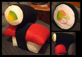 Sushi Pillows by Noxfacta
