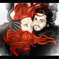 Snow and Ygritte by Atitharn